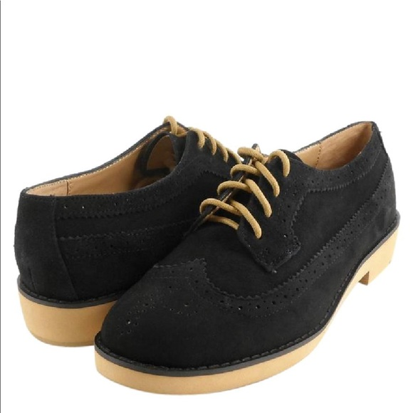 917564e04c4 Ralph Lauren Shoes   Sale Black Suede Imogen Oxford Shoe   Poshmark